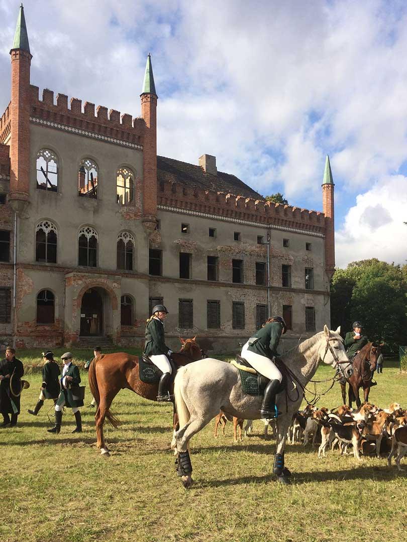Schleppjagd auf Schloss Broock