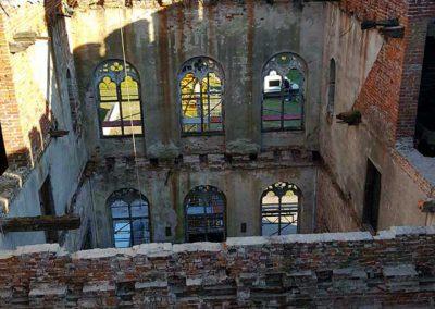 Blick in den Mittelresalit von Schloss Broock