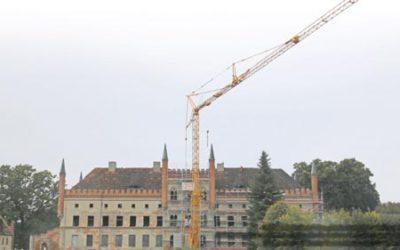 Der Zustand des Schlosses ist sehr traurig