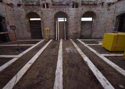Aufbau der Schalung im Gartensaal