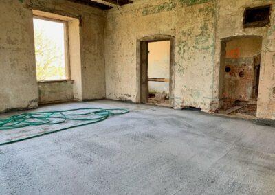 Die fertigen Decken in der westlichen Zimmerflucht des Nordflügels