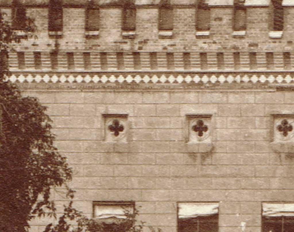 Abb. 10: Fassade, Ausschnitt, ca. 1890