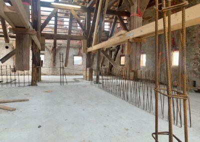 Die nächsten fertigen Decken über dem Obergeschoss im Südflügel