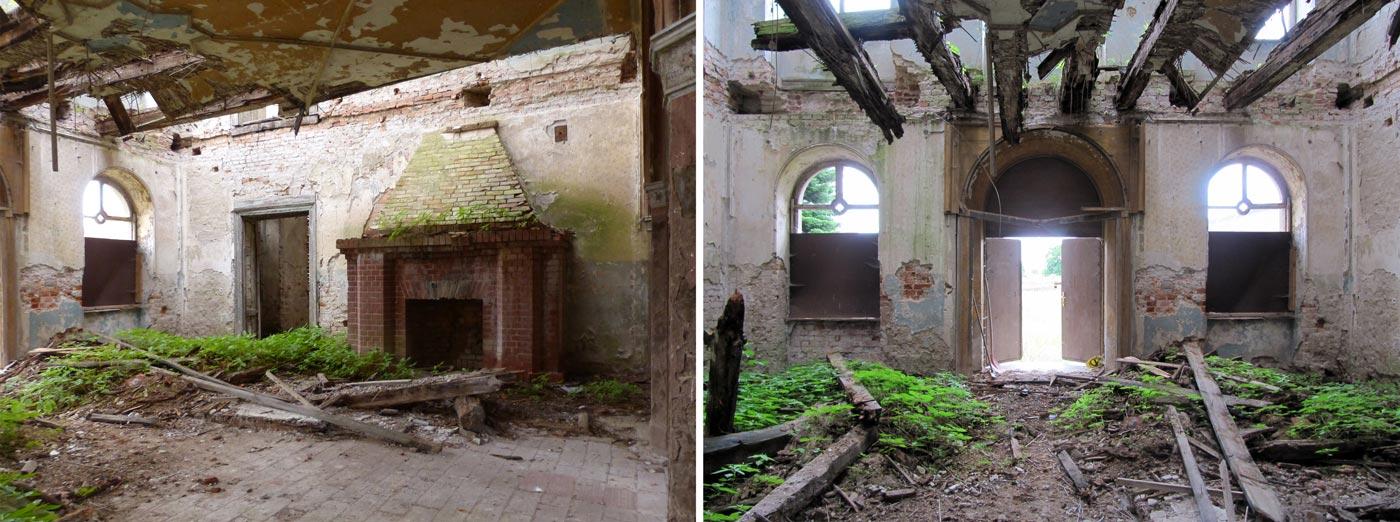 Abb. 03: Die Eingangshalle mit Kamin.