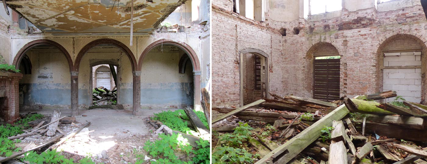 Abb. 05: Blick von der Halle in Richtung Gartensaal – Der Gartensaal [ohne Ausblick].